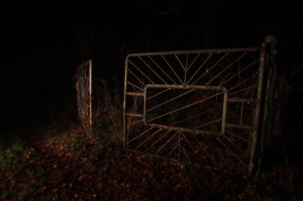 Original entrance gates to the site.