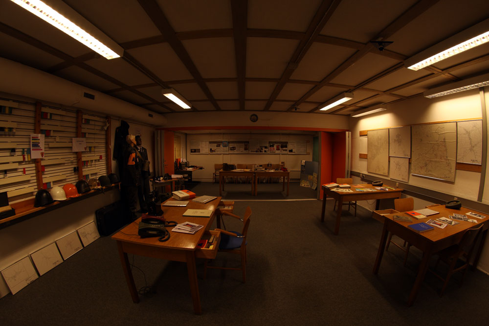 Main room in the small bunker.
