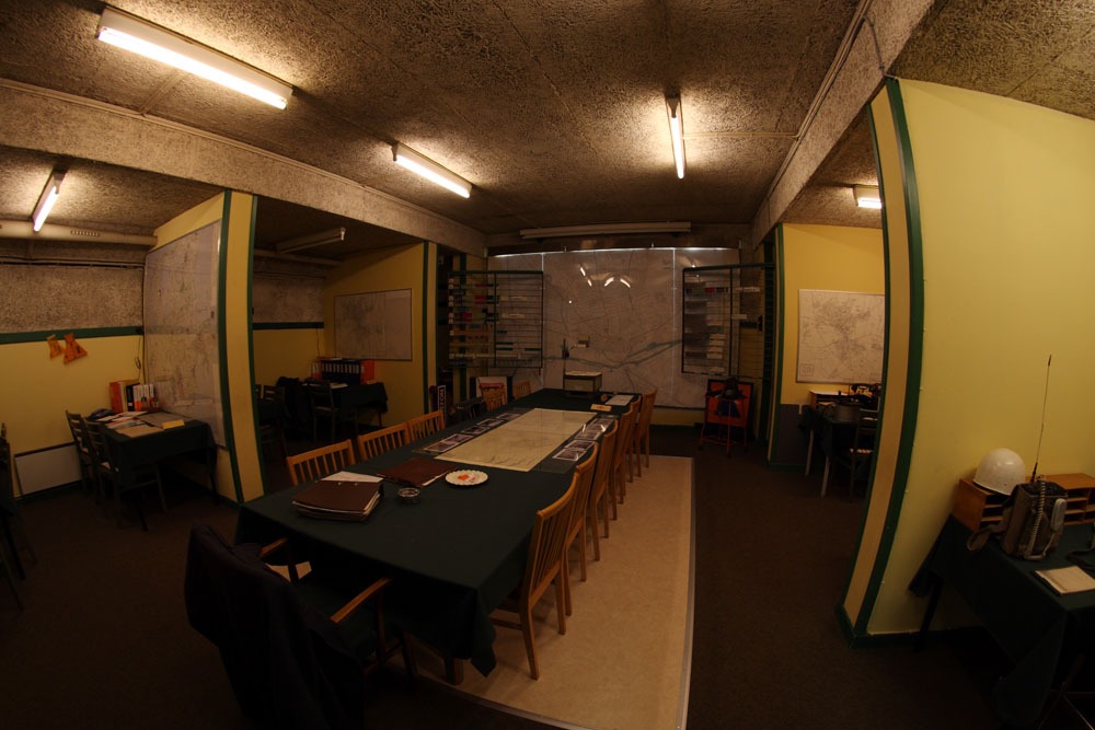 Main room in the bunker.