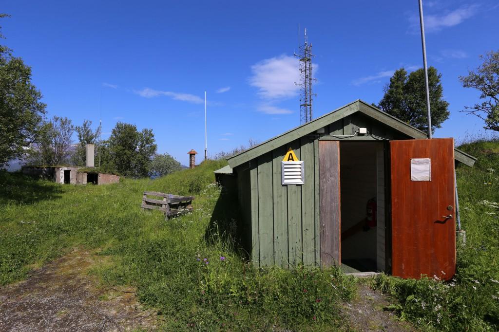 Main entrance command bunker.