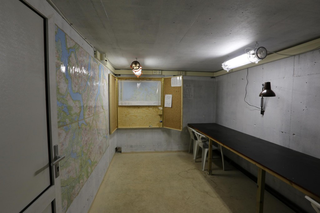 One room in the command area of the bunkersystem.