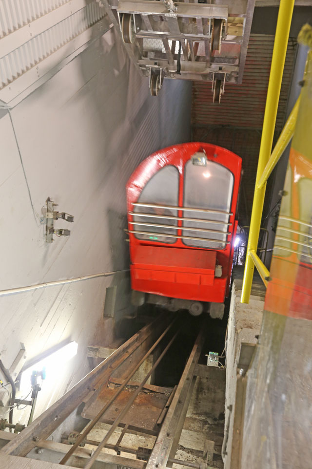 End of vertical train.
