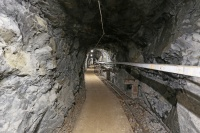Första delen av tunneln.